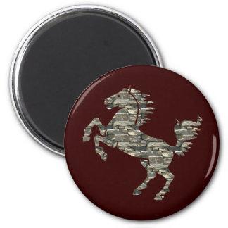 Deco Horse 2 Inch Round Magnet