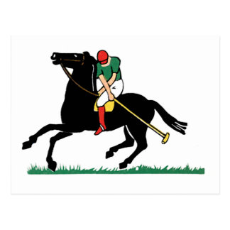 Deco Horse Polo Postcard
