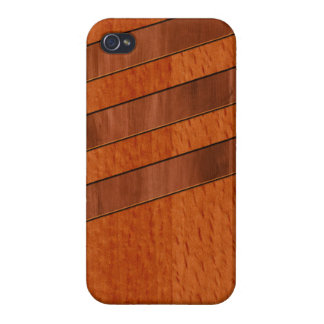 Deco Inlaid Wood Print iPhone 4 Cover