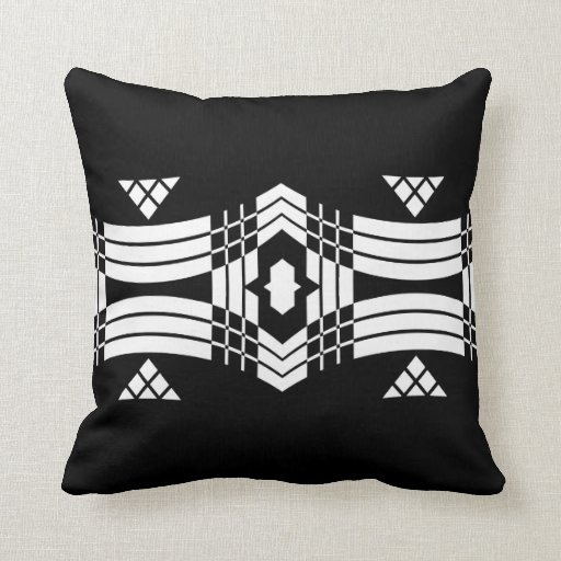 Deco Inspired Banner Throw Pillow
