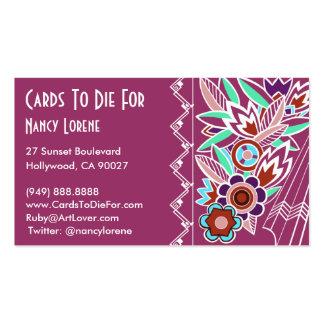 Deco intrépido floral en color de rosa - tarjetas  tarjetas de visita