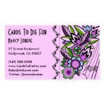 Deco intrépido floral en la lila - tarjetas de vis tarjeta personal