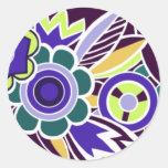 Deco intrépido floral en la púrpura - pegatinas