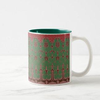 """DECO IVY"" Coffee Ivy Two-Tone Coffee Mug"