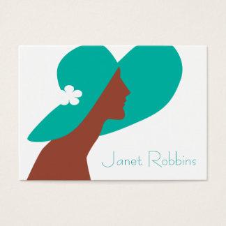 Deco Lady Profile Card Green