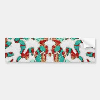 Deco mediterráneo etiqueta de parachoque