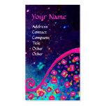 DECO MONOGRAM , Pink Fuchsia Blue Sparkles Business Cards