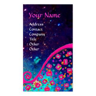 DECO MONOGRAM Pink Fuchsia Blue Sparkles Business Cards