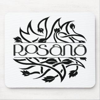 Deco negro Mousepad de Rosana Tapetes De Ratón