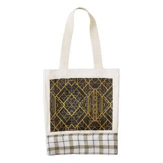 deco,nouveau,gold,black,elegant,chic,pattern,templ zazzle HEART tote bag