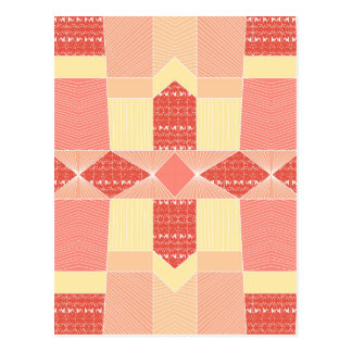 Deco Ombre Lines Geometric Pattern Postcard