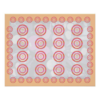 Deco PERFECTION - Double Circle Displays Poster