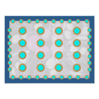 Deco PERFECTION - SkyBlue Gold Circle Displays Poster