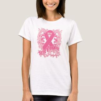 Deco Pink Ribbon - Breast Cancer Survivor T-Shirt