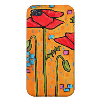 Deco Poppies iPhone 4/4S Covers