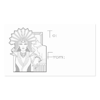 Deco Priestess Double-Sided Standard Business Cards (Pack Of 100)