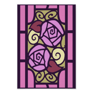 Deco Roses in Pink Poster