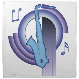 Deco Saxophone Printed Napkin