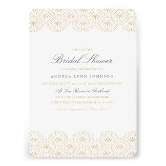 Deco Seigaiha Bridal Shower Invitation