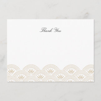 Deco Seigaiha Flat Thank You Note Card