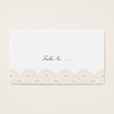 Deco Seigaiha Guest Escort Cards at Zazzle