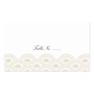 Deco Seigaiha Guest Escort Cards Double-Sided Standard Business Cards (Pack Of 100)