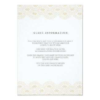 Deco Seigaiha Wedding Insert Card Personalized Invitation