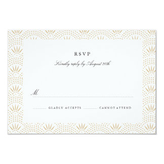 Deco Seigaiha Wedding RSVP 3.5x5 Paper Invitation Card