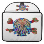 Deco Skull - Bull Alien and Colorful Graphics Sleeve For MacBook Pro
