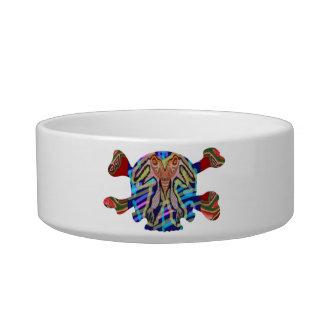 Deco Skull - Bull Alien and Colorful Graphics Pet Bowl
