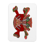 Deco Skull - Bull Alien and Colorful Graphics Rectangle Magnet