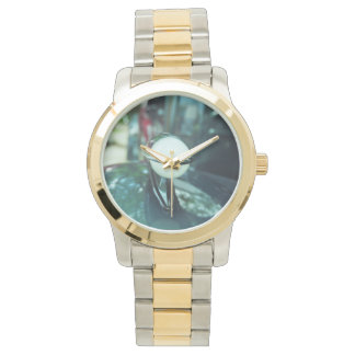 Deco Streamlining Gold and Silver Tone Watch
