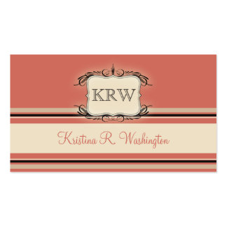 Deco Stripes Burnt Sienna Business Card