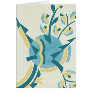 Deco Teal Card