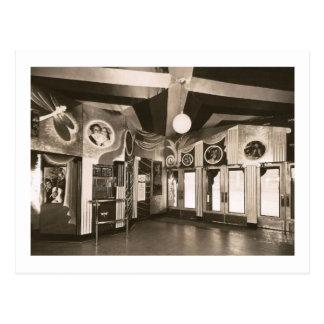 Deco Theatre Lobby Vintage Postcard