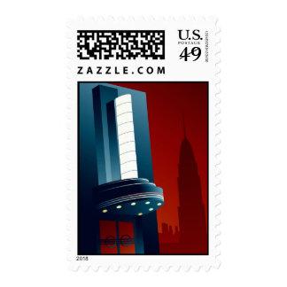 Deco Theatre Postage Stamp