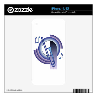 Deco Trombone Decals For The iPhone 4S