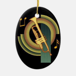 Deco Trumpet Ceramic Ornament