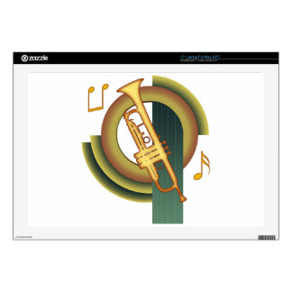 """Deco Trumpet Decal For 17"""" Laptop"""