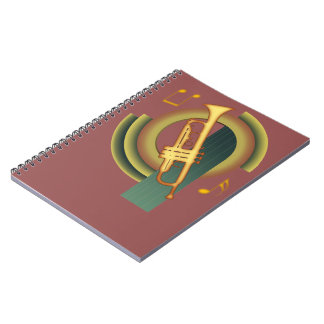 Deco Trumpet Spiral Notebook