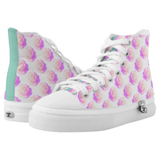 Decoden Cake Rose Pink Ombre Changeable Background Printed Shoes
