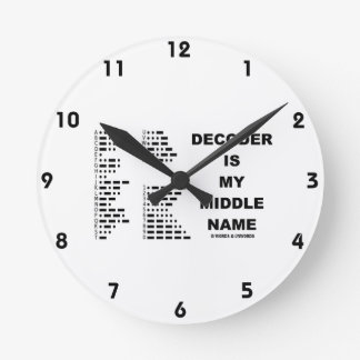 Decoder Is My Middle Name (Intl Morse Code) Round Clock