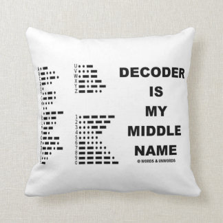 Decoder Is My Middle Name (Morse Code) Pillow