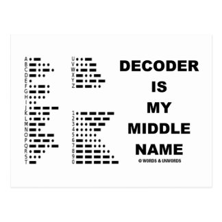 Decoder Is My Middle Name (Morse Code) Postcard
