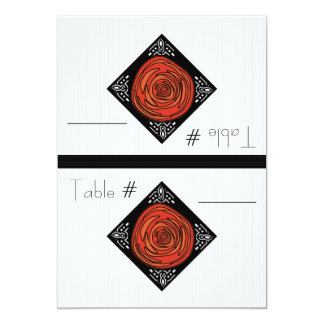Decofied Rose (Foldable Table Number Cards) Card