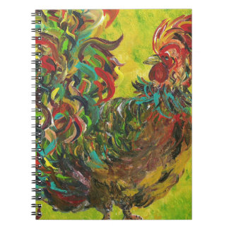 DeColores Rooster 2 Spiral Notebook