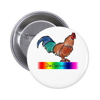 DeColores Rooster Button