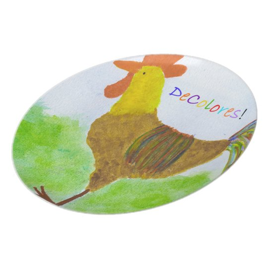 DeColores Rooster Plate