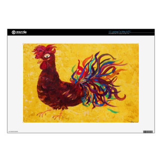 """DeColoros Rooster Decals For 15"""" Laptops"""