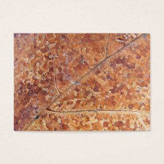 Decomposing Oak Leaf ~ ATC Business Card